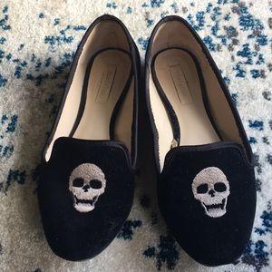 Zara Trafaluc velvet loafers